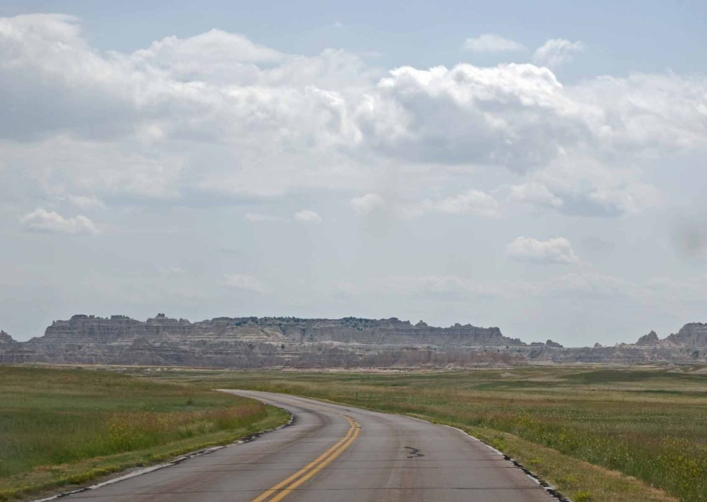 the road in to Badlands