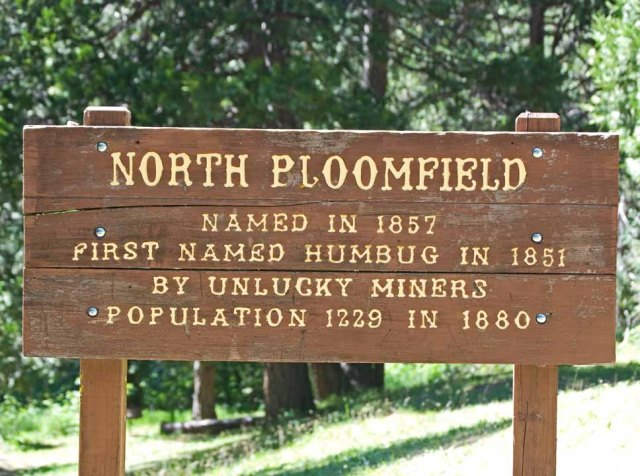 another North Bloomfield sign
